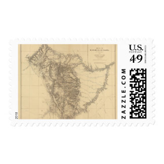 Map of the Black Hills of Dakota Postage Stamps