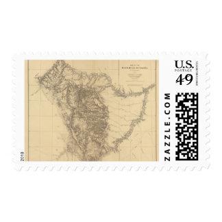 Map of the Black Hills of Dakota Stamps