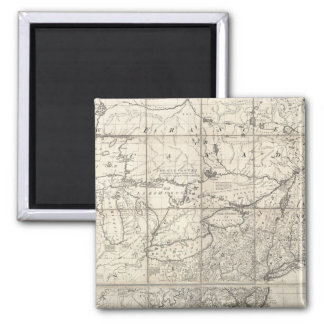 Map of the British and French Dominions 2 Inch Square Magnet