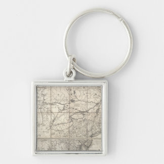 Map of the British and French Dominions Keychain