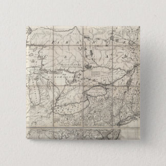 Map of the British and French Dominions Pinback Button