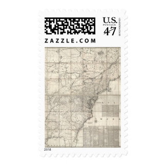 Map of the British and French Dominions Postage
