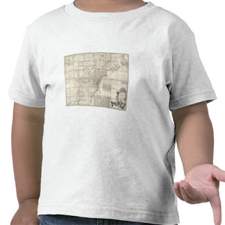 Map of the British and French Dominions Tee Shirt