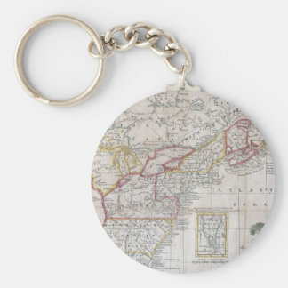 Map of the British Dominions in 1763 Keychains