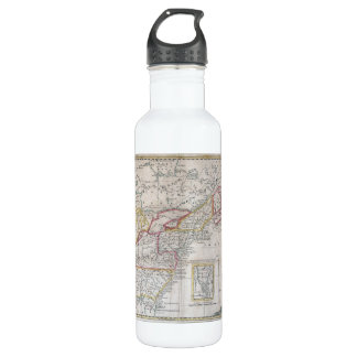 Map of the British Dominions in 1763 Stainless Steel Water Bottle