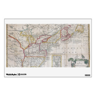 Map of the British Dominions in 1763 Wall Decal