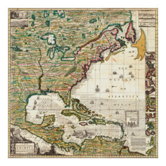 Map of the British Empire in America 1773 Poster
