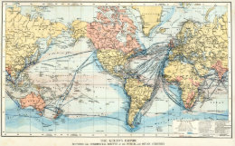 Vintage british empire world map art framed artwork zazzle map of the british empire poster gumiabroncs Choice Image