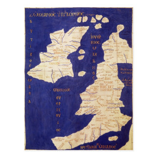 Map of the British Isles, from 'Geographia' Postcard