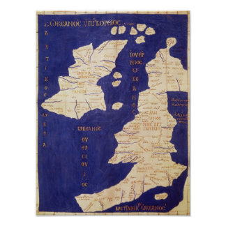 Map of the British Isles, from 'Geographia' Posters