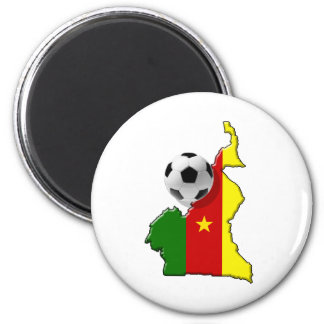 Map of the Cameroon Cameroun soccer ball gifts 2 Inch Round Magnet