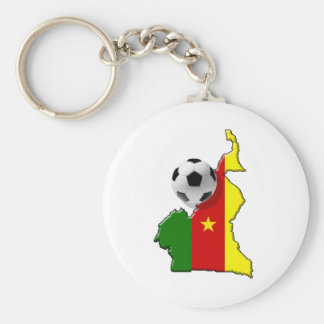 Map of the Cameroon Cameroun soccer ball gifts Basic Round Button Keychain