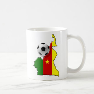 Map of the Cameroon Cameroun soccer ball gifts Classic White Coffee Mug