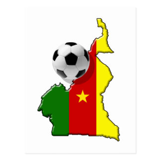 Map of the Cameroon Cameroun soccer ball gifts Postcard