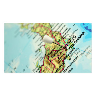Map of the Capital city of Japan, Tokyo Double-Sided Standard Business Cards (Pack Of 100)