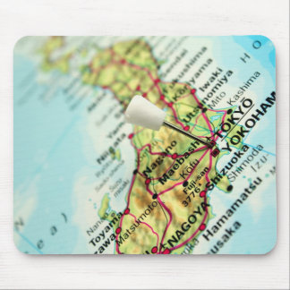 Map of the Capital city of Japan, Tokyo Mouse Pad