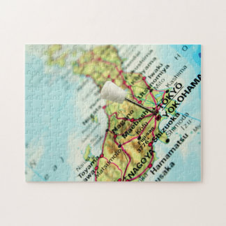 Map of the Capital city of Japan, Tokyo Jigsaw Puzzles