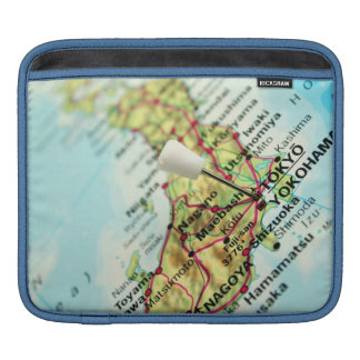 Map of the Capital city of Japan, Tokyo Sleeve For iPads