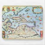 Map of the Caribbean islands Mouse Pad