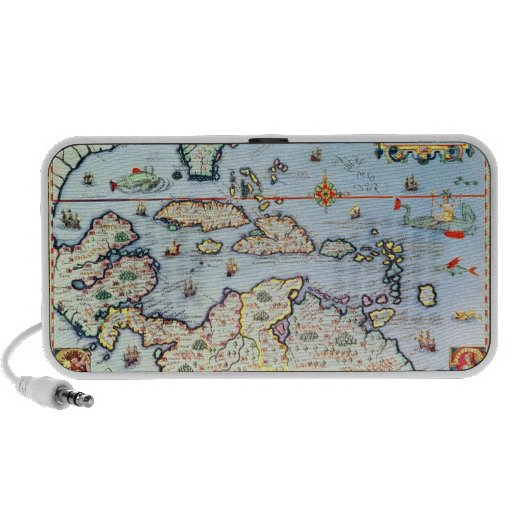 Map of the Caribbean islands Travel Speaker