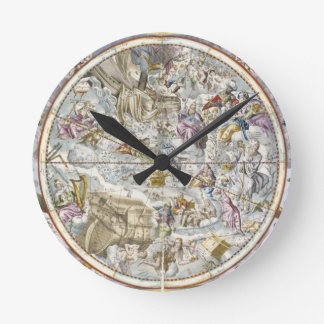 Map of the Christian Constellations as Depicted by Round Wallclocks