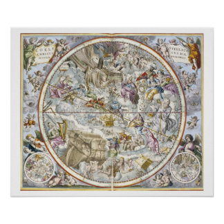 Map of the Christian Constellations as Depicted by Poster