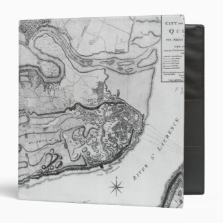 Map of the city and environs of Quebec 3 Ring Binder
