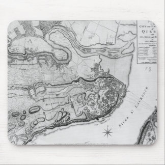 Map of the city and environs of Quebec Mouse Pad