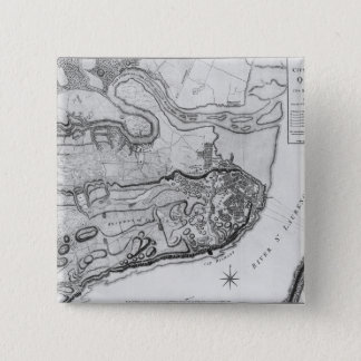 Map of the city and environs of Quebec Pinback Button