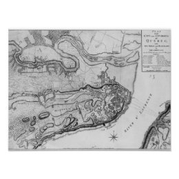Map of the city and environs of Quebec Poster
