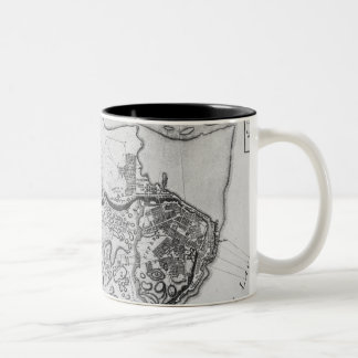Map of the city and environs of Quebec Two-Tone Coffee Mug