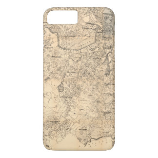 Map of the City of Boston and Vicinity (1907) iPhone 8 Plus/7 Plus Case