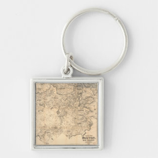 Map of the City of Boston and Vicinity (1907) Keychain