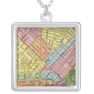 Map of The City of Buffalo Square Pendant Necklace