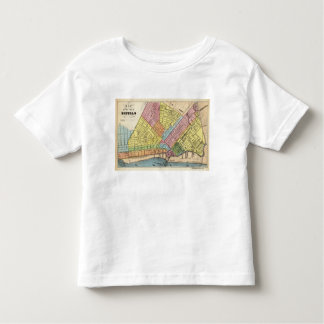 Map of The City of Buffalo T-shirt