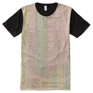 Map of the City of Detroit All-Over Print Shirt