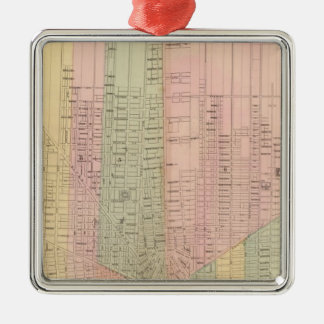Map of the City of Detroit Metal Ornament