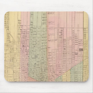 Map of the City of Detroit Mouse Pad