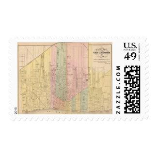 Map of the City of Detroit Postage
