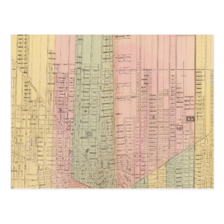 Map of the City of Detroit Postcard