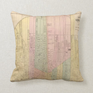 Map of the City of Detroit Throw Pillow
