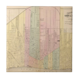 Map of the City of Detroit Tile