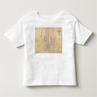 Map of the City of Detroit Toddler T-shirt