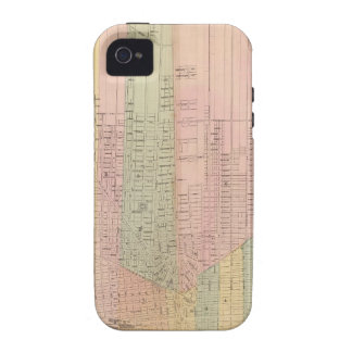 Map of the City of Detroit Vibe iPhone 4 Case