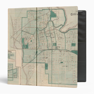 Map of the City of Fort Wayne with Cedarville 3 Ring Binder