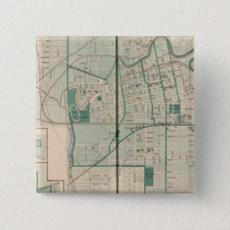Map of the City of Fort Wayne with Cedarville Pinback Button