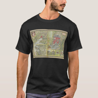 Map of the city of La Rochelle & Aunis France 1773 T-Shirt