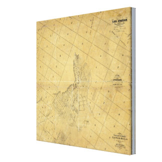 Map Of The City Of Los Angeles Gallery Wrapped Canvas