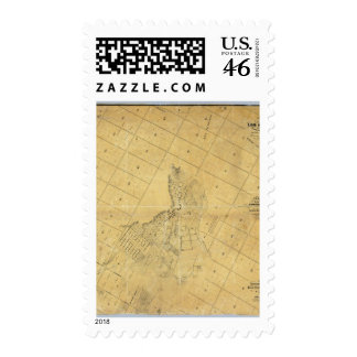 Map Of The City Of Los Angeles Postage Stamp