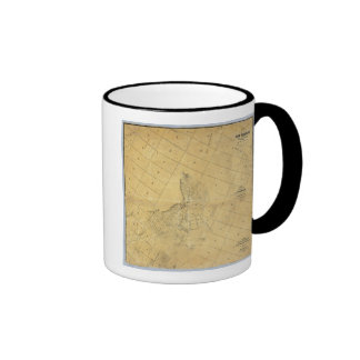 Map Of The City Of Los Angeles Ringer Coffee Mug